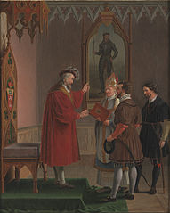 Adolf, Duke of Schleswig-Holstein, Declines the Offer to Accede to the Danish Throne. Copy after C. W. Eckersberg