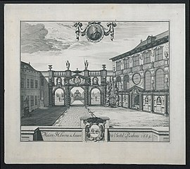 Het Rubenshuis, Antwerpen, in 1684
