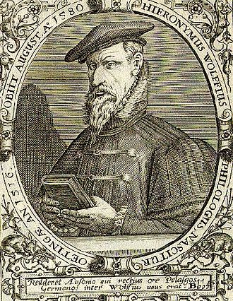 Names of the Greeks - Hieronymus Wolf was a 16th-century German historian. After coming into contact with the works of Laonicus Chalcondyles, he also went ahead with identifying Byzantine historiography for the purpose of distinguishing medieval Greek from ancient Roman history.