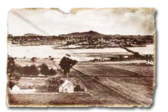 Onehunga High School - Photo of Onehunga before urbanisation.
