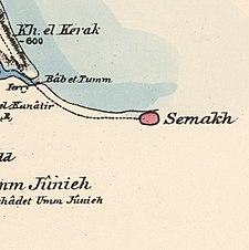 Historische Kartenserie für das Gebiet von Samakh, Tiberias (1870er Jahre) .jpg
