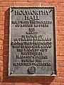 Holworthy Hall plaque - Harvard University - IMG 0068.JPG