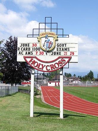 Holy Cross Regional High School - Image: Holy Cross High School (noticeboard)