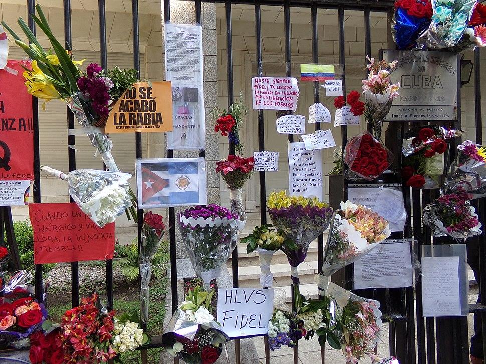 Homenajes a Fidel Castro en Buenos Aires 17