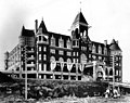 Hotel Washington decorated for President Theodore Roosevelt's visit on May 23, 1903 (SEATTLE 605).jpg