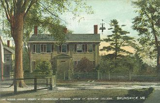 Brunswick, Maine - House where Henry Wadsworth Longfellow, Bowdoin Class of 1825, roomed