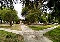 Huanqueros, Depto. San Cristóbal, Santa Fe, Argentina, plaza 9 de Julio.jpg
