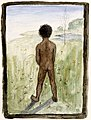 Hugo Simberg - Black Boy on the Meadow - A II 968-31 - Finnish National Gallery.jpg