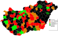 Hungarian Wikipedians Subregions 2012 August.png