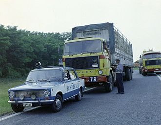 TIR Convention - Bulgarian TIR truck in Hungary, 1978
