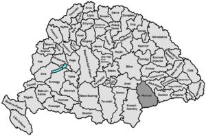 Hunyad County - Hunyad county (1876-1920)
