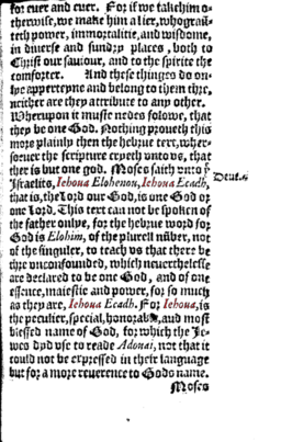 Hutchinson, Roger 1550 JEHOVAH