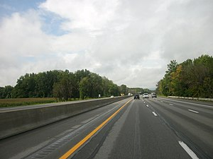 Ohio Turnpike - The Ohio Turnpike south of Vermilion (exit 135)