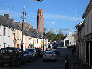 Port Laoise - Bridge Street and Church of Sts. Peter and Paul