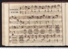 Domenico Scarlatti, Beginn der Sonate K 175 im Manuskriptband 1752/1 der Königin Maria Bárbara, Venedig, Bibl. Marciana (I-Vnm Mss.It.IV.199-213) (Quelle: Wikimedia)