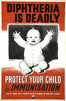 INF3-280 Health Diphtheria is deadly - protect your child by immunisation Artist J H Dowd.jpg