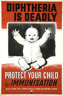 INF3-280 Health Diphtheria is deadly - protect your child by immunisation Artist J H Dowd