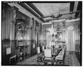 INTERIOR VIEW OF DINING ROOM - Colonel Walter Gresham House, 1402 Broadway, Galveston, Galveston County, TX HABS TEX,84-GALV,26-7.tif