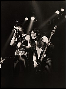 Paul Di'Anno and Steve Harris supporting Judas Priest on their British Steel Tour, 1980. Iron Maiden's ...