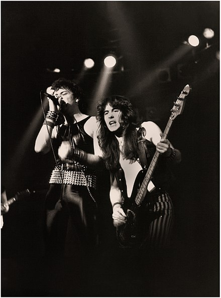 Paul Di'Anno and Steve Harris supporting Judas Priest on their British Steel Tour, 1980 IRON MAIDEN - Manchester Apollo - 1980.jpg
