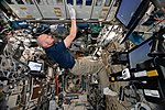 ISS-56 Alexander Gerst works in the Destiny module (3).jpg