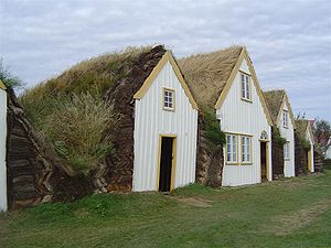 Icelandic turf house - Turf houses of the burstabær style in Glaumbær