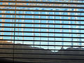 Icicles behind venetian blinds with blue sky.jpg