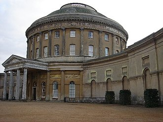 Ickworth House - The entrance facade and ionic portico (9 on plan).