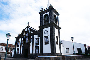 Graciosa - The historical parochial church of Santa Cruz in the village of Santa Cruz da Graciosa