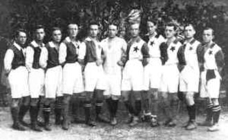 Football in Slovenia - SK Ilirija squad, which won the first Slovenian regional championship in 1920.