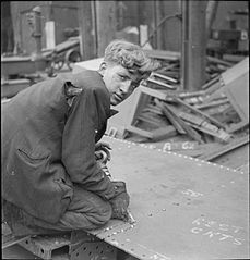 In a British Shipyard- Everyday Life in the Shipbuilding Industry, UK, 1943 DB159.jpg