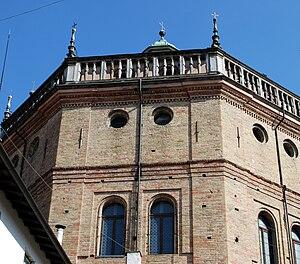 Tempio Civico della Beata Vergine Incoronata - External view of base of Dome