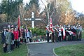 Independence Day 2018 at Central Cemetery in Sanok 12 (scouts at East Golgota Cross).jpg