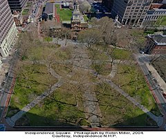 Independence National Historical Park Independence Square by Robin Mille April 2004.jpg