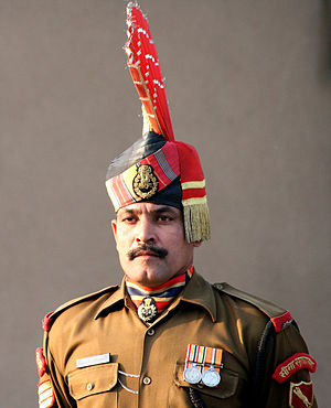 Border Security Force - A soldier of India's Border Security Force in one of the ceremonial uniforms.