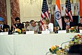 Indian Ministers, Secretary Clinton, and Deputy Secretary Steinberg Listen to Remarks (4731032372).jpg