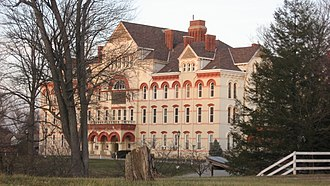 Indiana Soldiers' and Sailors' Children's Home - Front of the administration building
