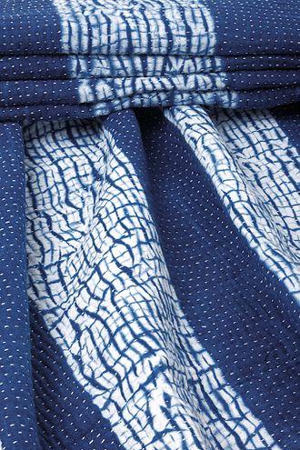 Kikuuiki - Image: Indigo Dyed Shibori Quilt