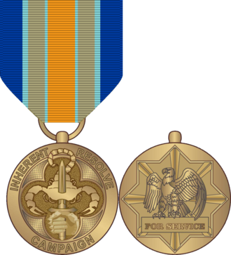 Inherent Resolve Campaign Medal - Obverse and reverse of the medal