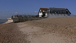 Hayling Island Lifeboat Station - The original boathouse is now unrecognisable as it has been incorporated into a structure now used as a public house and restaurant
