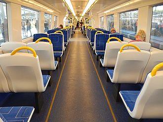 Adelaide Metro A-City Class 4000 - Image: Inside 4000 class EMU (15438610782)