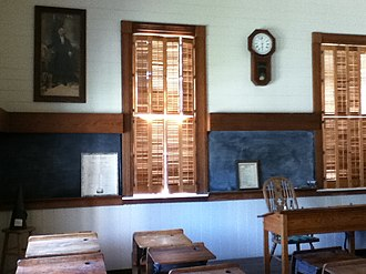 Dixie Schoolhouse - Image: Inside of Dixie Schoolhouse