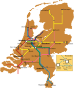 Dutch intercity network, 2010
