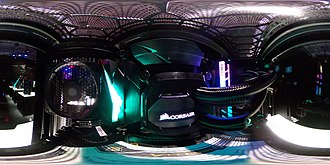 Computer case - Image: Interior 360 view of a gaming PC – 2 of 2