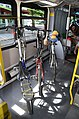 Interior of C-Tran Vine bus with all three bicycle racks in use.jpg