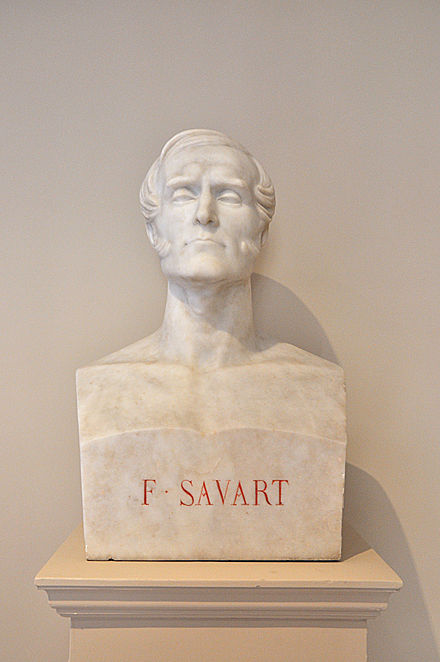 Bust of Felix Savart in the Institut de France located in the 6th arrondissement of Paris Interior of Institut de France, Paris 6th 013.jpg