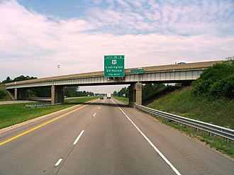 Interstate 96 - Image: Interstate 96 and Sternberg Road