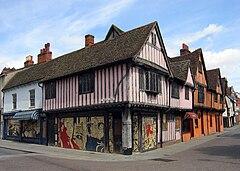 Timber framed buildings in St Nicholas Street