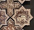 Iran, mattonelle stellate e cruciformi, 1266-67, 03 leone e sole.JPG