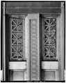 Ironwork and window panels on balcony. - Whitehall Street Ferry Terminal, 11 South Street, New York, New York County, NY HAER NY,31-NEYO,146-7.tif
